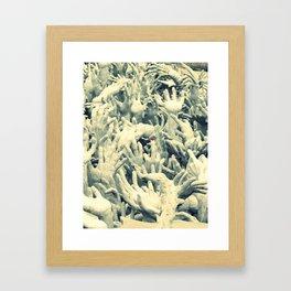 Hands. Framed Art Print