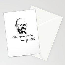 Mahatma Gandhi - priorities Stationery Cards