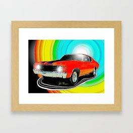 71 Chevelle Framed Art Print