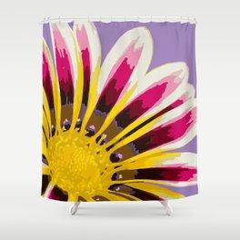 Bright Daisy Illustrated Print Shower Curtain