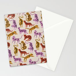 Tiger Collection – Pink & Yellow Palette Stationery Cards