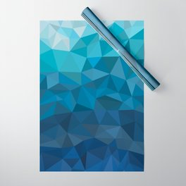 blue geometric Wrapping Paper