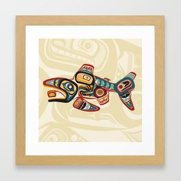 Salish Salmon Framed Art Print