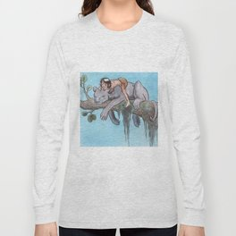 Bagheera & Mowgli Long Sleeve T-shirt