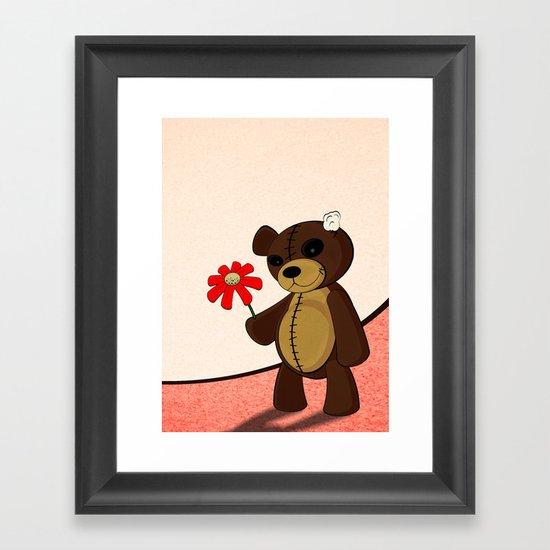 Sweet Teddy Framed Art Print