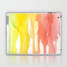 Rainbow Watercolor Texture Pattern Abstract Laptop & iPad Skin
