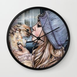 Cara and Cecil Wall Clock