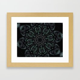 Dark Mandala #4 Framed Art Print
