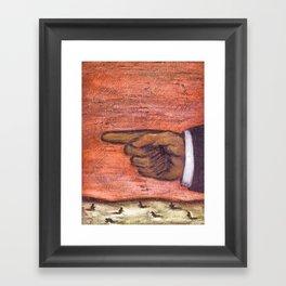 SHEEPLE Framed Art Print