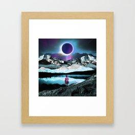 Behind the eclipse Framed Art Print