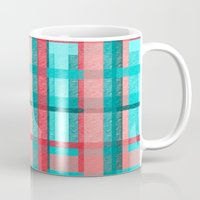 plaid Mugs featuring Plaid by Nichole B.