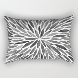 Blackened Burst Rectangular Pillow
