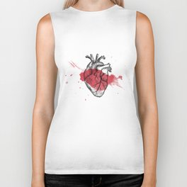 Anatomical heart - Art is Heart  Biker Tank