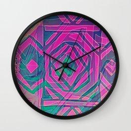 ndebele pink Wall Clock