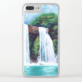 Wailua Falls Clear iPhone Case