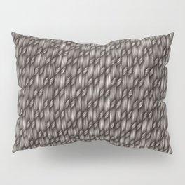 Grey Cross Weave Texture Pillow Sham