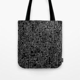 Sketched Numbers Tote Bag
