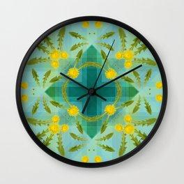 Dandelions in the sky Wall Clock