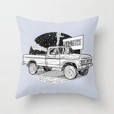 Car going nowhere/ B/W Throw Pillow