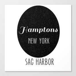 My Towns- Sag Harbor, Hamptons NY Canvas Print