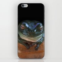 ashton irwin iPhone & iPod Skins featuring Irwin the Frog by Morgan Roddick