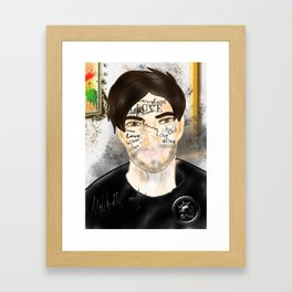The Word you Never Say (Giannis). Framed Art Print