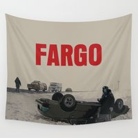 movie poster Wall Tapestries featuring Fargo Movie Poster  by FunnyFaceArt