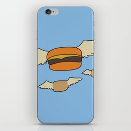 Bob's Burgers Flying Hamburger picture iPhone Skin