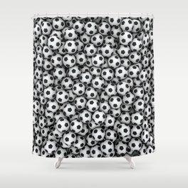 Soccer balls Shower Curtain