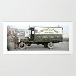 Bowman's Storage Truck, Vancouver, BC c.1918 Art Print