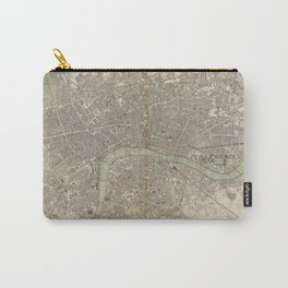 Vintage Map of London England (1843) Carry-All Pouch