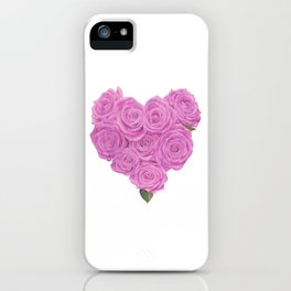 i heart roses iPhone Case