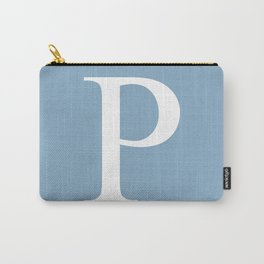Letter P sign on placid blue background Carry-All Pouch