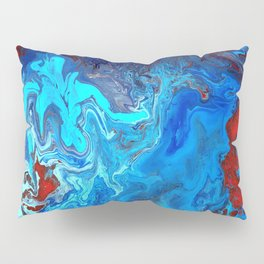 Red and Blue lava Melt Pillow Sham
