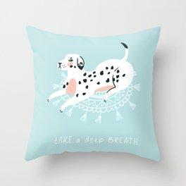 Cute dalmatian Throw Pillow