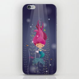 Mermaid with a pearl iPhone Skin
