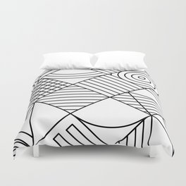 Whackadoodle White and black Duvet Cover