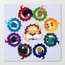 Spinning Senshi - Eternal + Supers Canvas Print
