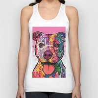 rottweiler Tank Tops featuring Rottweiler Dog by trevacristina