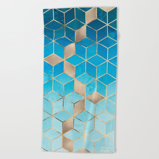 Sea And Sky Cubes (Custom Request) Beach Towel