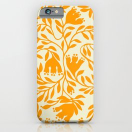 Impression indienne yellow sun. iPhone Case
