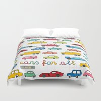 f1 Duvet Covers featuring Cars for all by Magnetic Boys
