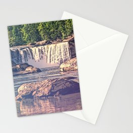 Neon Fade Waterfall Stationery Cards