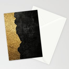 Gold torn & black grunge Stationery Cards