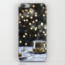 Tea With Sparkle - Gold Bokeh iPhone Skin