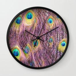 PinkPeacock Wall Clock