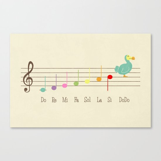 Music Lesson Canvas Print