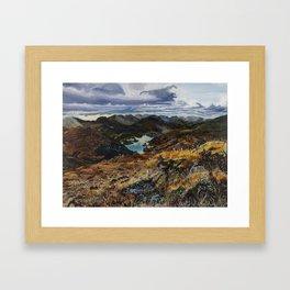 View from Torc Mountain, Killarney National Park, Ireland Framed Art Print
