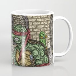 ThunderCats Vs. The Turtles - Lion-O Vs. Raphael Coffee Mug