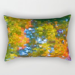 Fall leaves on river 7 Rectangular Pillow
